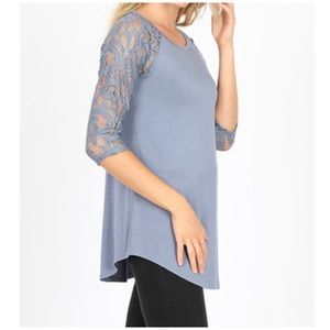 """NEW """"Alegra"""" lace 3/4 sleeves top S"""